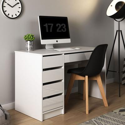 Levné Psací stoly: PC stůl bílý MOSI