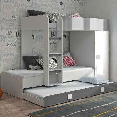 Levné Patrové postele pro děti: Patrová postel do dětského pokoje Lesly II + matrace