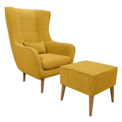 Levné Křesla do obývacího pokoje: Velké křeslo s taburetem OMAR XIII