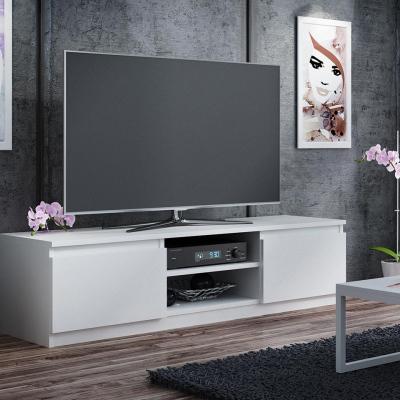 Levné Televizní stolky: Televizní stolek bílý KIWI