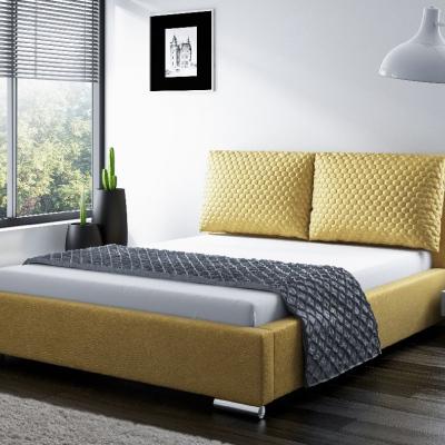 Levné Manželské čalouněné postele: Stylová čalouněná postel Dubai 180 gold