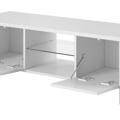 Levné Televizní stolky: Televizní stolek TOMAS - bílý lesk
