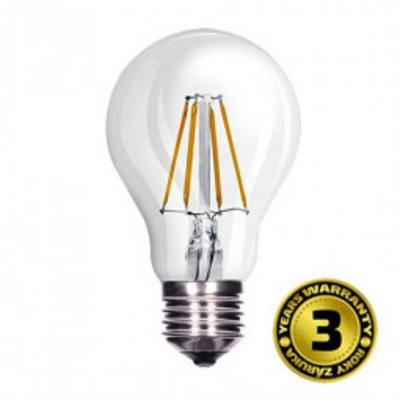 Levné LED žárovky: Solight LED žárovka retro, klasický tvar, 8W, E27, 3000K, 360°, 810lm