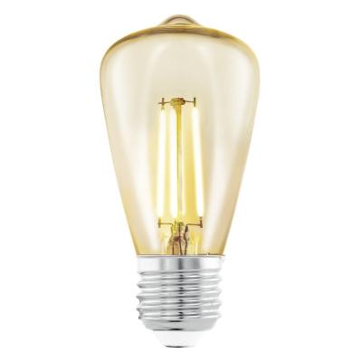 Levné LED diodové žárovky: Vintage LED filamentová žárovka EGLO, E27, ST48, 3,5W, 220lm, 2200K, teplá bílá