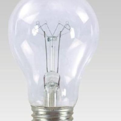 Levné Žárovky a zářivky: Klasická žárovka pro průmyslové použití, E27, A55, 40W, teplá bílá