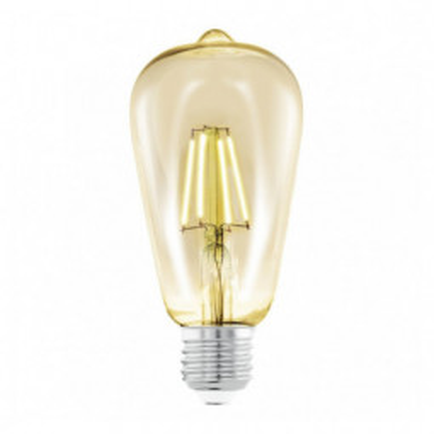 Levné LED diodové žárovky: Retro filamentová LED žárovka EGLO, E27, ST64, 4W, 220lm, 2200K, teplá bílá