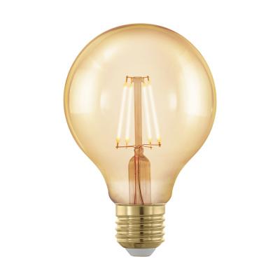Levné LED diodové žárovky: Retro LED stmívatelná žárovka EGLO, tvar G80, E27, 4W, teplá bílá