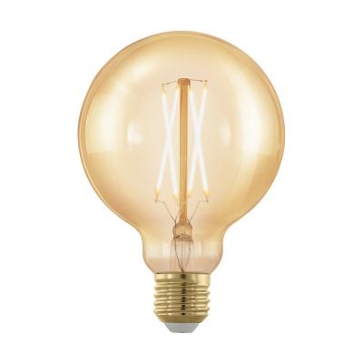 Levné LED diodové žárovky: Retro LED stmívatelná žárovka EGLO, tvar G95, E27, 4W, teplá bílá