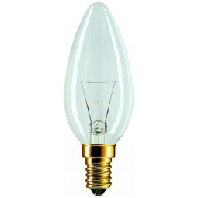 Levné Žárovky a zářivky: Klasická svíčková žárovka E14, 40W, 390lm, teplá bílá