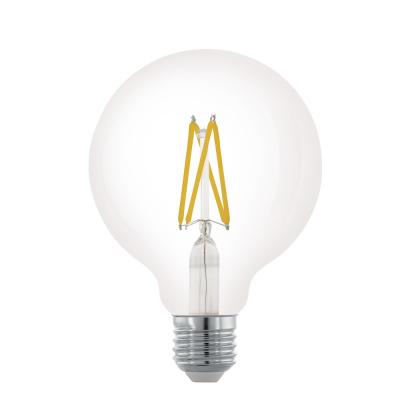 Levné Žárovky a zářivky: LED stmívatelná žárovka G95, 6W, teplá bílá