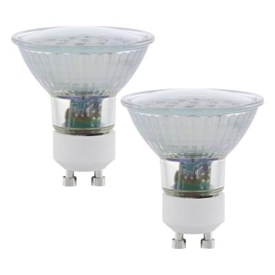 Levné Žárovky a zářivky: Sada 2 x LED SMD žárovka, GU10, 5 W, teplá bílá