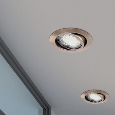 Levné Stropní svítidla: Sada LED zápustných flexibilních světel LITE, 240lm, 3000K, bronzové, kulaté