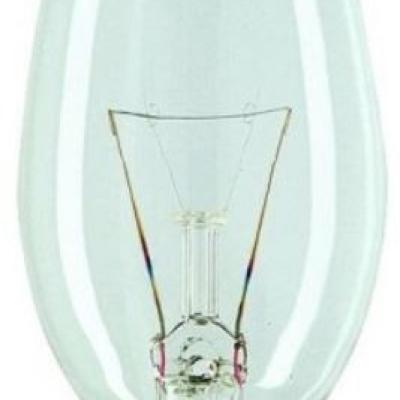Levné Žárovky a zářivky: Klasická svíčková žárovka E14, 25W, 190lm, 240V