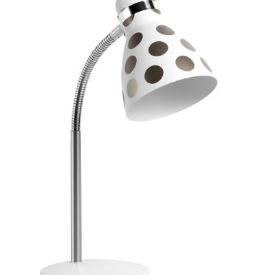 Levné Stolní lampy a lampičky: Stolní dětská lampa FANDA, šedé puntíky