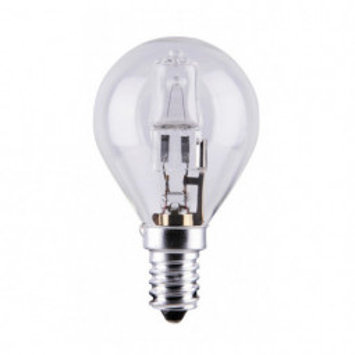 Levné Žárovky a zářivky: Eco-halogenová žárovka, E14, G45, 18W, teplá bílá