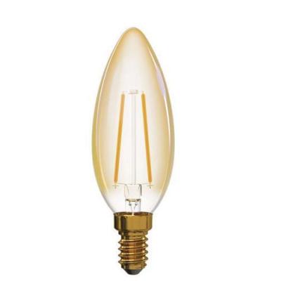 Levné LED žárovky: LED Vintage filamentová žárovka, E14, Candle, 2W, 170lm, teplá bílá