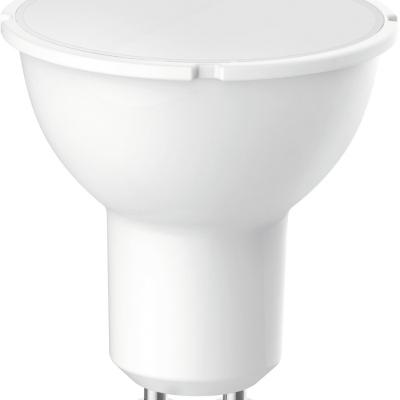 Levné LED diodové žárovky: Úsporná LED light žárovka, GU10, 5W, teplá bílá