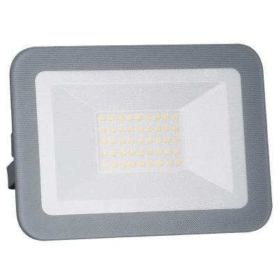 Levné LED halogeny (reflektory): LED nástěnný reflektor, 30W, IP65, 4000K, neutrální bílá, šedý