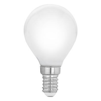 Levné LED žárovky: Filamentová LED opálová žárovka,E14, P45, 4W, neutrální bílá