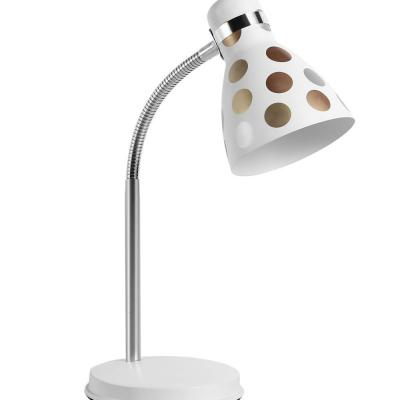 Levné Stolní lampy a lampičky: Stolní dětská lampa FANDA, zlaté puntíky