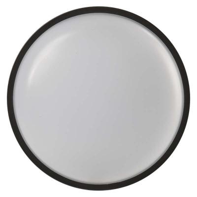 Levné Stropní svítidla: Přisazené venkovní stropní LED svítidlo FUERAK, 20W, teplá bílá, 22cm, kulaté, černé, IP65