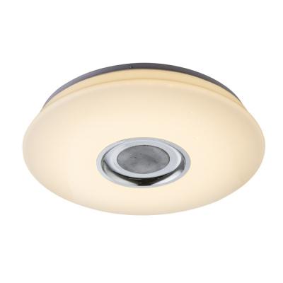 Levné Stropní svítidla: Inteligentní LED stropnice s reproduktorem NICOLE, 18W, 40cm, kulatá