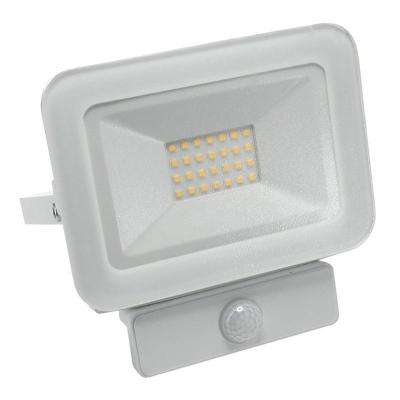 Levné LED halogeny (reflektory): LED nástěnný reflektor s čidlem, 20W, IP65, 4000K, neutrální bílá, bílý