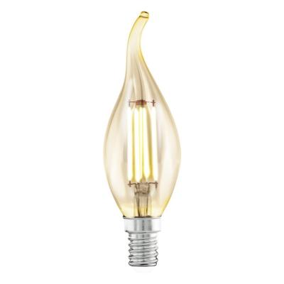 Levné LED diodové žárovky: Retro LED žárovka EGLO, E14, tvar C35, 4W, teplá bílá