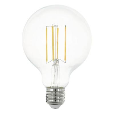 Levné Žárovky a zářivky: LED žárovka G95, E27, 8 W, teplá bílá, (čirá)