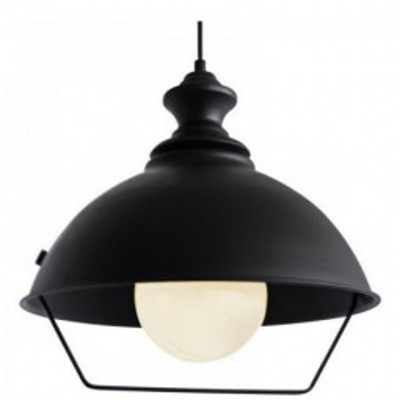 Levné Lustry na lanku: Závěsný lustr na lanku v industriálním stylu ASOGI, černý