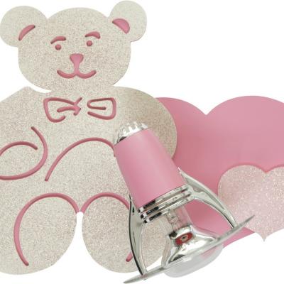 Levné Stropní svítidla: Dětské nástěnné svítidlo srdce HONEY, růžové