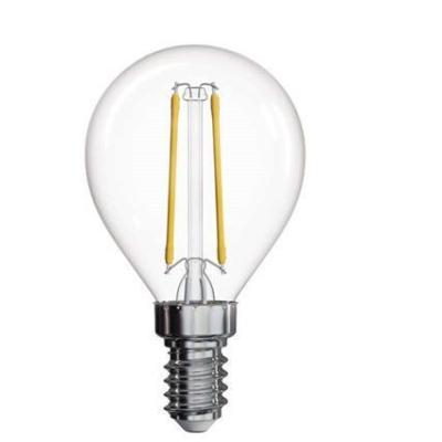 Levné LED žárovky: LED filamentová žárovka, E14, Mini, 2W, 250lm, teplá bílá