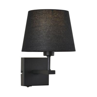 Levné Nástěnná svítidla: Nástěnná lampa s vypínačem NORTE, černá