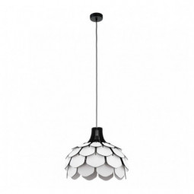 Levné Lustry nad jídelní stůl: Závěsný designový lustr nad jídelní stůl MORALES, bílý