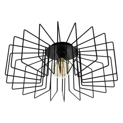 Levné Přisazené lustry: Přisazený drátěný designový lustr TREMEDAL, 1xE27, 28W, 56cm, kulatý, černý