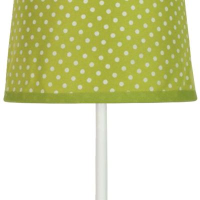 Levné Lampy a lampičky: Dětská stolní lampička GABRIELE, zelená, puntíky