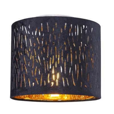 Levné Přisazené lustry: Přisazené stropní osvětlení TICON, 1xE27, 60W, 20cm, kulaté, černé