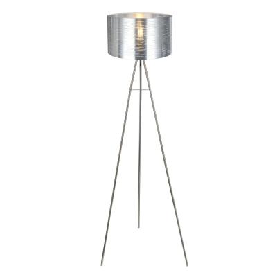 Levné Stojací lampy: Moderní podlahová lampa MURCIA, stříbrná