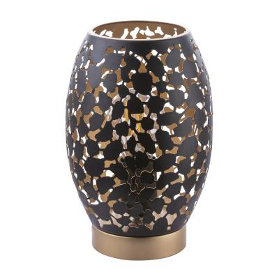 Levné Lampy a lampičky: Designová stolní lampa HANNY, černá, zlatá