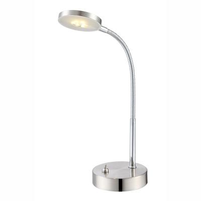 Levné Stolní lampy na pracovní a psací stůl: Stolní LED lampa DENIZ, stříbrná