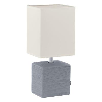 Levné Lampy a lampičky: Kermická stolní lampa do ložnice MATARO, šedá