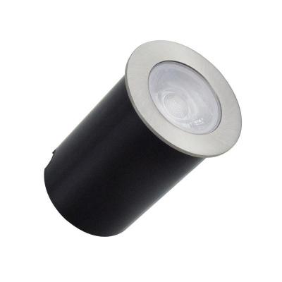 Levné Venkovní LED osvětlení: LED zemní zápustné svítidlo, 4W, kulaté, 2800K, teplá bílá, IP67