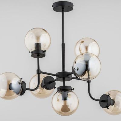 Levné Lustry a závěsná svítidla: Závěsný designový lustr ACKERLEY, 7xE14, 40W, černý