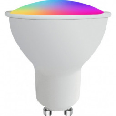 Levné LED diodové žárovky: Žárovka LED GU10, 3W, barevná (měnící barvy)