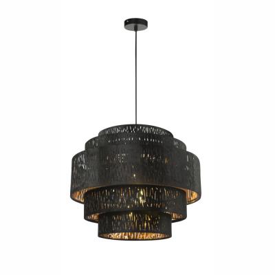 Levné Lustry a závěsná svítidla: Černé závěsné světlo TUXON