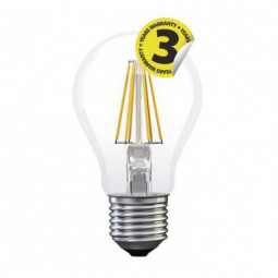 Levné LED žárovky: LED žárovka FLM A60, 8W, E27, 806lm, teplá bílá