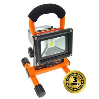 Levné Reflektory: LED reflektor, 10W, přenosný, nabíjjecí, 700lm, oranžový