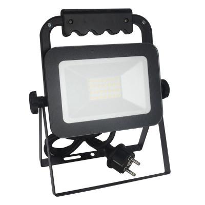 Levné LED halogeny (reflektory): LED stojací reflektor, 20W, IP65, 4000K, neutrální bílá, černý