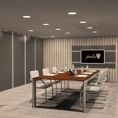 Levné Stropní svítidla: Zápustný LED panel, 18W, 2800K, teplá bílá, 22,5cm, bílý, kulatý