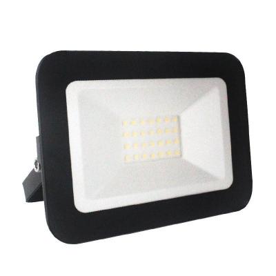 Levné LED halogeny (reflektory): LED nástěnný reflektor, 20W, IP65, 4000K, neutrální bílá, černý